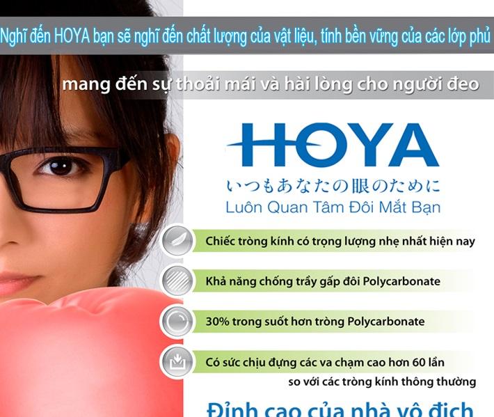 Tròng kính cận HOYA