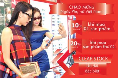 Khuyến mãi chào mừng ngày Phụ nữ Việt Nam 20-10-2019
