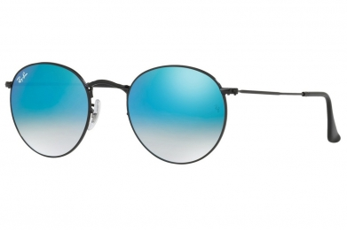 RAY-BAN ROUND FLASH LENSES GRADIENT S-RAY 3447-002/4O(50IT)